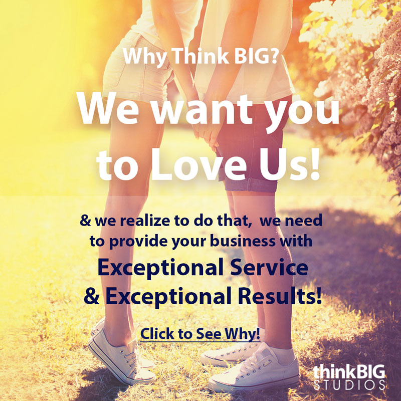 We want you to love us for your marketing graphic