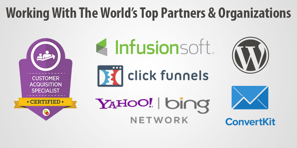 Working with the worlds top marketing partners and organizations