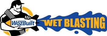 Wozbuilt Wet Blasting Logo Design
